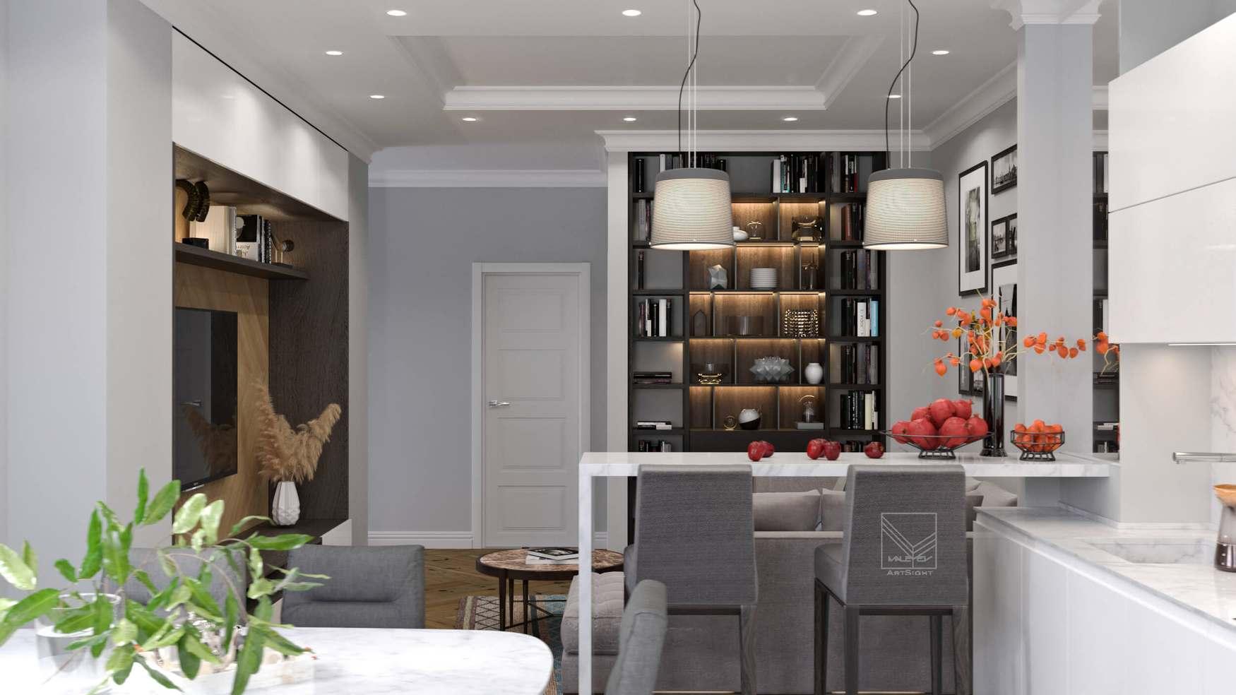 Дизайн интерьера совмещение современного и классического стилей